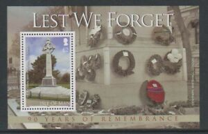 Isle of Man - 2008, End of WWI, Lest We Forget sheet - MNH - SG MS1466