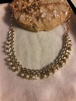 Vintage CORO pearl Goldtone Chain Necklace Signed Retro Jewelry Mint condition