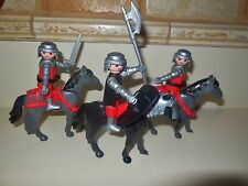 PLAYMOBIL DOLL HOUSE DOLLHOUSE VIKING KNIGHTS CASTLE HORSES PEOPLE FIGURE LOT