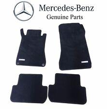 NEW Mercedes Benz CLK-Class Black Carpet Velour Floor Mats Genuine B66294117