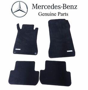 For Mercedes Benz CLK-Class Black Carpet Velour Floor Mats Genuine B66294117