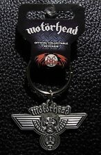 MOTORHEAD - OFFICIAL KEYCHAIN HAMMERED METAL KEY RING