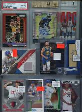 HUGE PREMIUM PATCH AUTO GRADED JERSEY ROOKIE INSERT SPORTS CARD COLLECTION LOT
