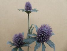 Artificial Thistle Bud flower Stem purple Lavender Spray With 3 Heads