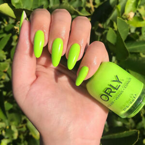Orly Thrill Seeker - Bright Neon Lime Green Leaning Yellow Creme Nail Polish