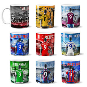Personalised Football Mug Fan Cup Fathers Birthday Valentines Day Gift AFM