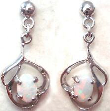 Natural Crystal Opal Earring With 925 Solid Silver FREE JEWELLERY BOX!!!