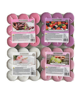 Wickford & Co Scented Tealights Candles Pink Rhubarb,CottonPeony,Cherry,Berries