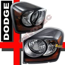 2004-2006 Dodge Durango Black Replacement Headlights Lamps RH + LH