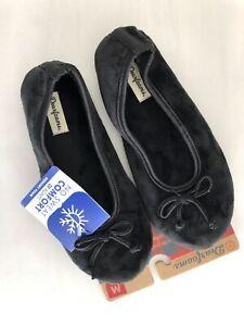 New Dearfoams Genuine Beautiful Super Soft Black Women's Slippers US 7-8 Medium