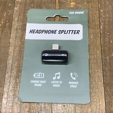 Headphone Splitter for iPhones, IPads - Charge, Listen & Talk New in Package