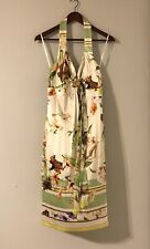 ROBERTO CAVALLI Floral Summer Dress Silk Sleeveless sz 44 Made in Italy