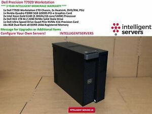 Dell Precision T7920, 2x Gold 6140, 128GB RAM, 2TB M.2 NVME SSD, Nvidia P2000