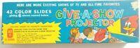 🌈Kenner 1961 Give A Show Projector 21 Slides Vintage Color Cartoons🌞