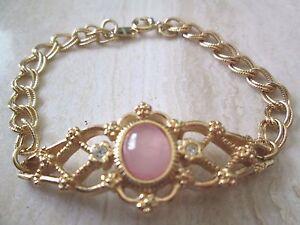 "VINTAGE Avon Genuine Rose Quartz Bracelet small 7"" ***New in Box*** 1992"
