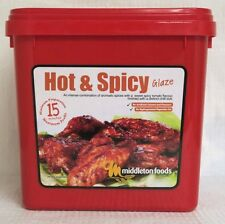 Middleton Foods 🌾 HOT & SPICY Meat Glaze Marinade Seasoning Mix 2.5kg Red Tub