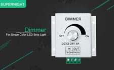 SUPERNIGHT® Aluminium Brightness Dimmer DC 12-24V 8A for Single Color LED Strip