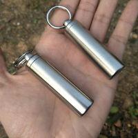 Wasserdicht Kapsel Pillendose Schlüsselanhänger EDC für OutdoorReis J7Z0
