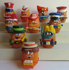 LOOSE SET 10 McDonald's 1988 McNUGGET BUDDIES Chicken Nugget Buddy Girl COMPLETE