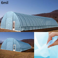 5 Year 6 Mil Blue Plastic Greenhouse Poly Film Cover 13 ft. Wide x 25 FT Length