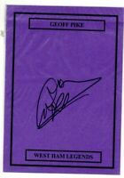 Ex West Ham United Geoff Pike Hand Signed Card Size A5