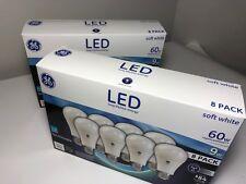 16 bulbs 2 - 8 PACK GE LED 60W,  9W Soft White 60 Watt Equivalent