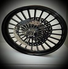 23 x 3.75 HARLEY DAVIDSON ROAD KING GLOSS BLACK LEGEND WHEEL With ROTORS