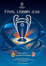 UEFA CHAMPIONS LEAGUE FINAL PROGRAMME 2014 Atletico Madrid v Real Madrid