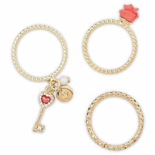 DISNEY BELLE 3 Ring Set DESIGNER FAIRYTALE Princess BEAUTY & THE BEAST Size 6
