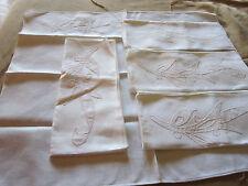 "5 pc set Vintage Embroidery Linen Dinner Napkin 16""x14"