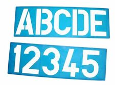 100MM A-Z CAPITAL LETTERS 0-9 PLASTIC STENCIL TEMPLATE KIT POSTER SIGN LETTERING