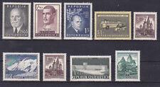 Österreich Jahrgang  1957 postfrisch** 9 Werte