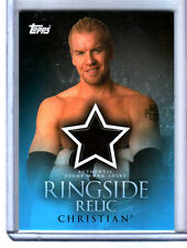 WWE Christian 2009 Topps Ringside Relic Event Worn Shirt Card
