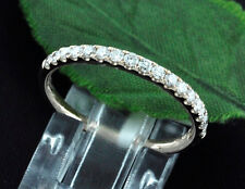14k Solid Rose Gold Natural Diamond Stackable Band ring Anniversary Wed 0.50ct