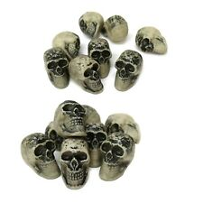 Small 5cm Natural Halloween Scary Horror Gothic Skull Decorations (16 Pack)