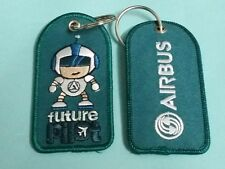 ONE Embroidery Keychain Future Pilot Boy Green Airbus Aviation Flight Rare