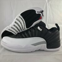 Nike Air Jordan 12 XII Retro Low Playoffs Black Red White 308317-004 Mens 15