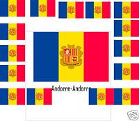 Assortiment lot de 25 autocollants Vinyle stickers drapeau Andorre-Andorra
