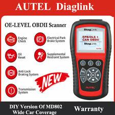 Autel DiagLink MaxiDiag Elite MD802 OBD2 Code Scanner Tool ABS SRS EPB OIL RESET