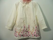 Gap 5T Floral embroidered Flower Swing Top NWT