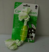 For Pet Multipet Canine Clean Rope With TPR Spearmint remove tartar Dog Toys