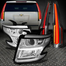 FOR 15-18 TAHOE SUBURBAN LED DRL PROJECTOR HEADLIGHT+CADILLAC LOOK TAIL LAMPS