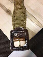 Super stylish  tan leather  women's belt