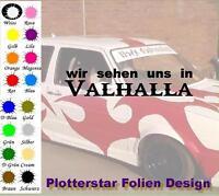 Wir sehen uns in Valhalla JDM Sticker Aufkleber Odin Thor Valhalla Shocker