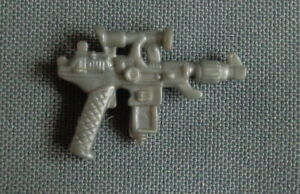 1987 vintage Hasbro G.I. JOE silver pistol gun COBRA COMMANDER BATTLE ARMOR part