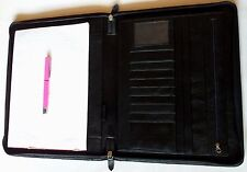 HANDMADE ZIP CLOSER A4 FOLIO/ TRAVEL ORGANISER/ COMPENDIUM/ IPAD/ LAPTOP HOLDER