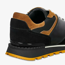 BERLUTI Run Track Torino 7 Nero Glazed Calf and Suede Sneaker - US7.5-8