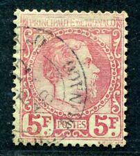 Monaco 1885 10 timbrato picco € 2400 (s1898