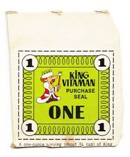 Quaker Oats King Vitaman Cereal Purchase Seal From Cereal Box - 1970s