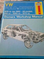 VW Polo and Derby 1976 to 1982 haynes workshop manual